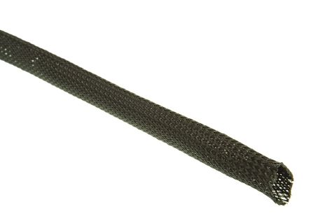 HellermannTyton Expandable Braided PET Black Cable Sleeve, 20mm Diameter, 30m Length