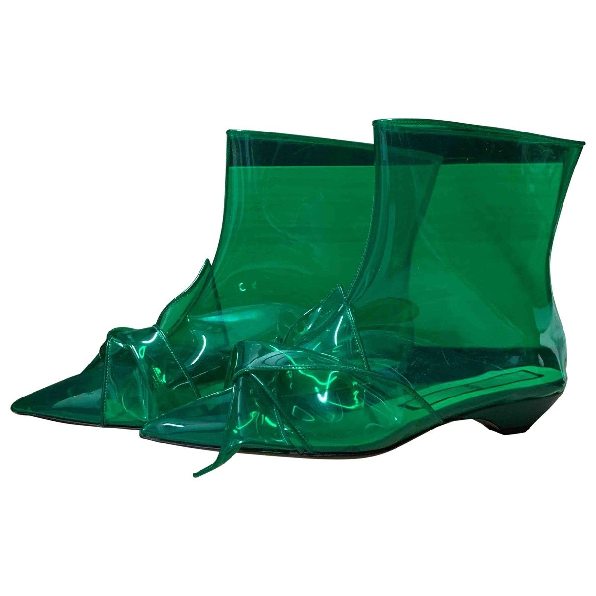 N°21 \N Green Ankle boots for Women 40 EU