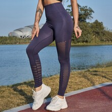 High Low Wide Waistband Sports Leggings