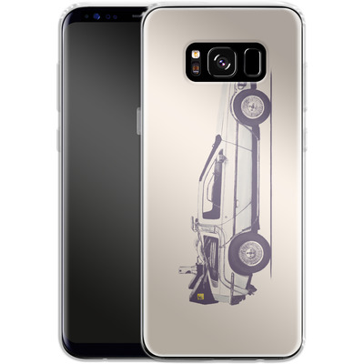 Samsung Galaxy S8 Silikon Handyhuelle - Delorean von Florent Bodart