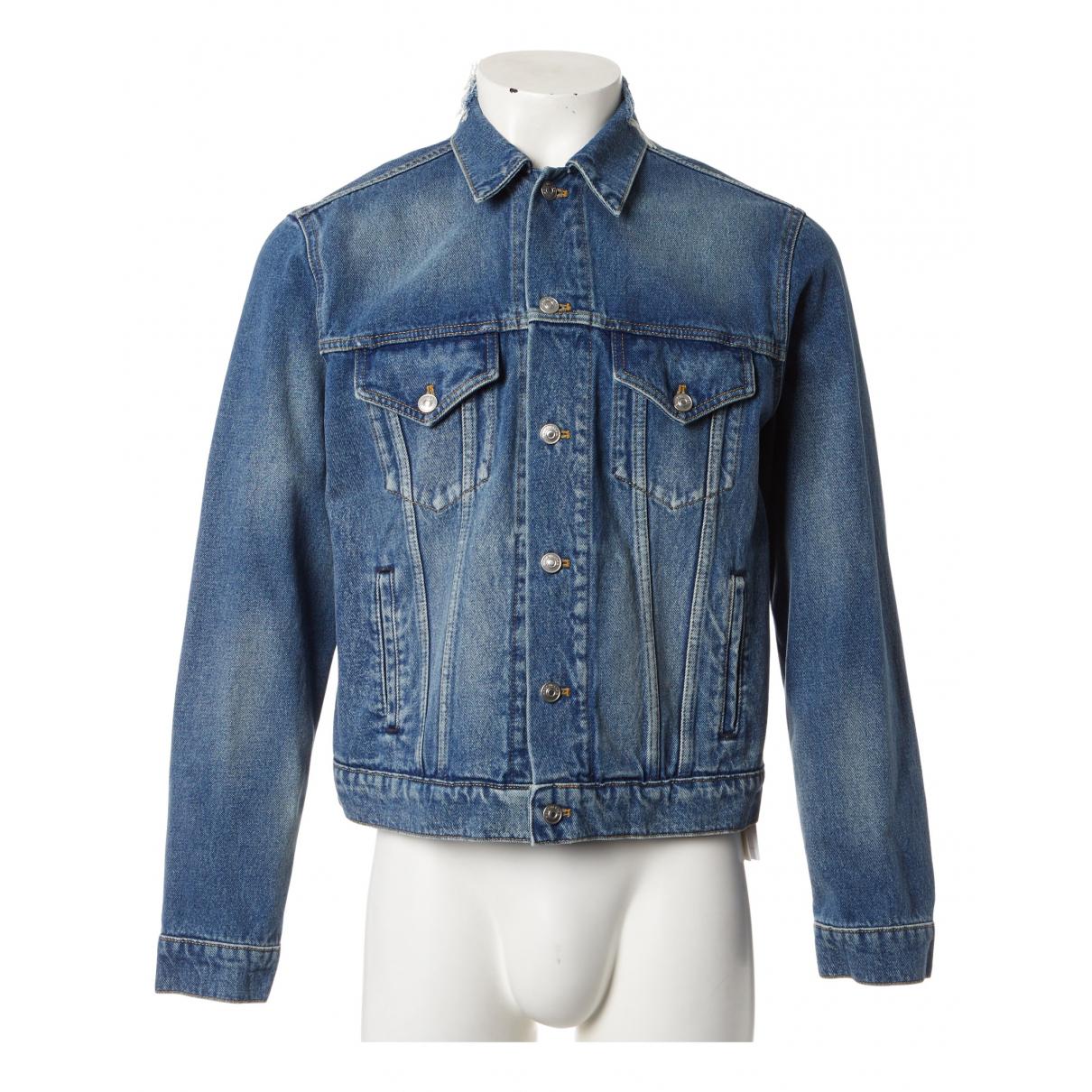Balenciaga - Vestes.Blousons   pour homme en coton - bleu