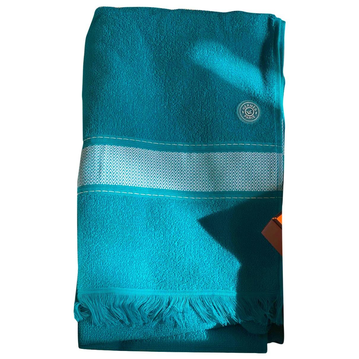 Hermes - Linge de maison   pour lifestyle en coton - turquoise