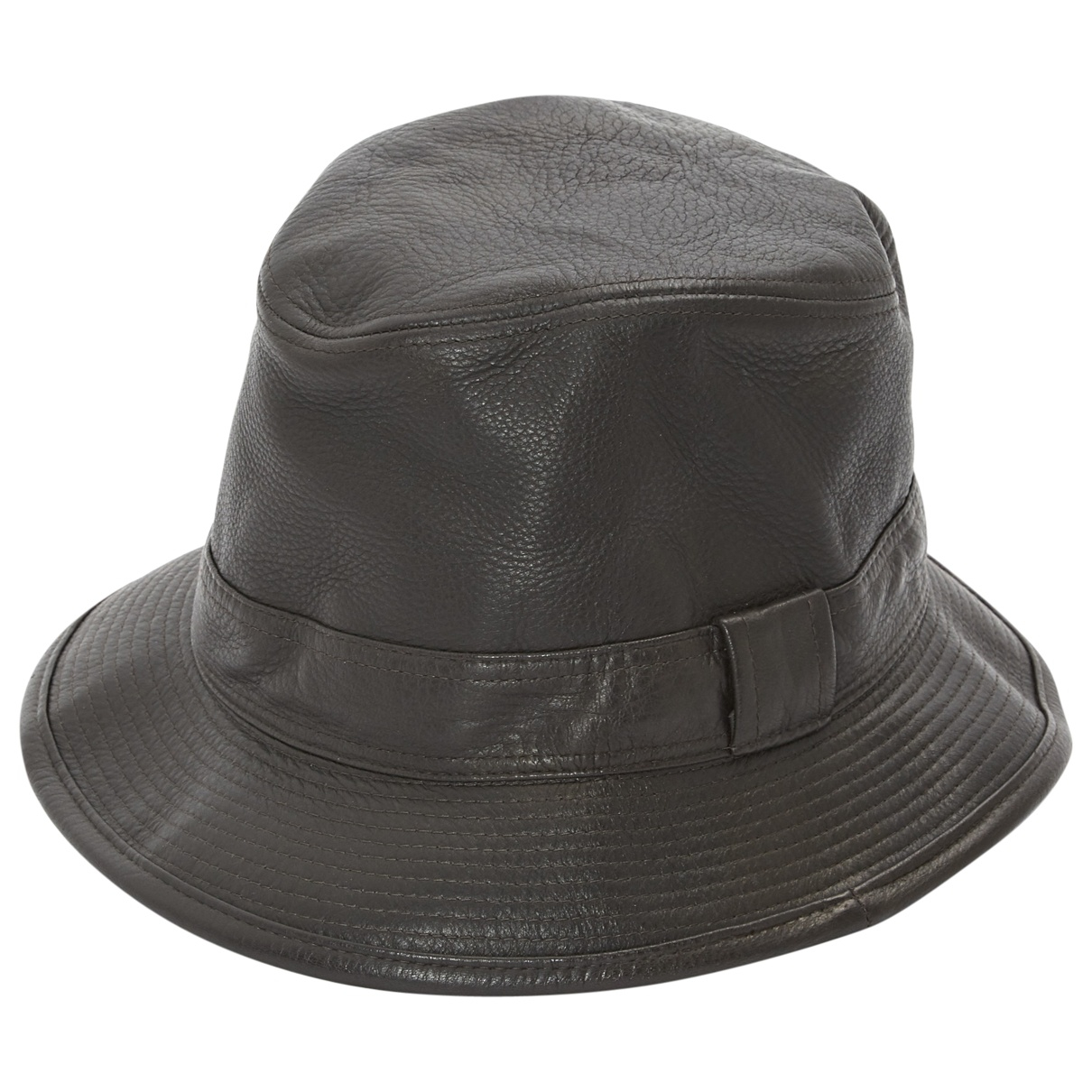 Hermès \N Brown Leather hat & pull on hat for Men 58 cm