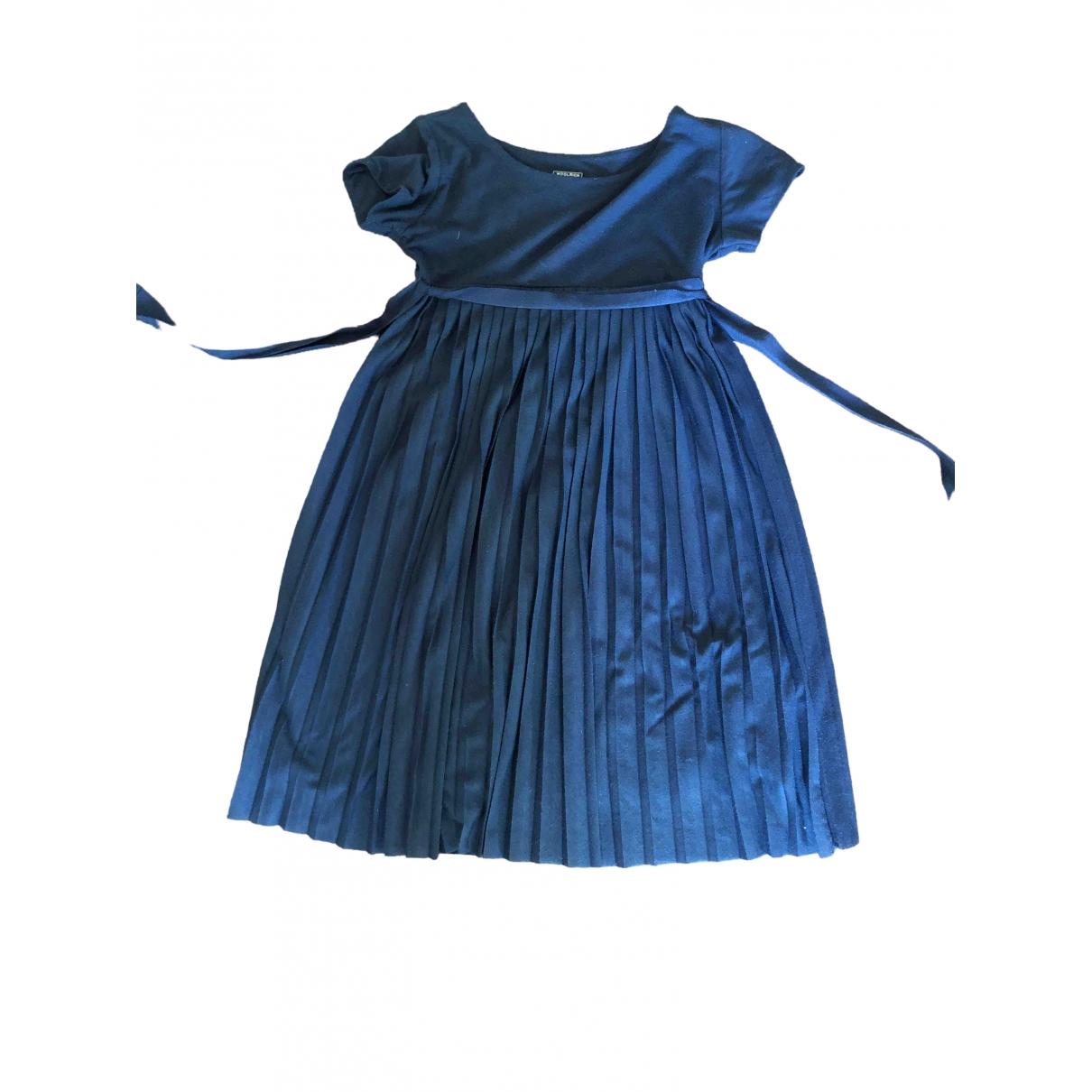 Woolrich - Robe    pour enfant en coton - bleu