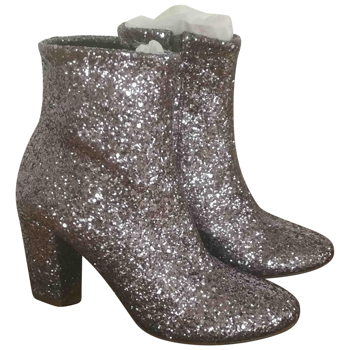 Patricia Blanchet \N Silver Glitter Boots for Women 37 EU