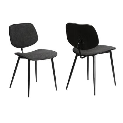 LCLZSIBLCH Lizzy Charcoal Modern Dining Accent Chairs - Set of