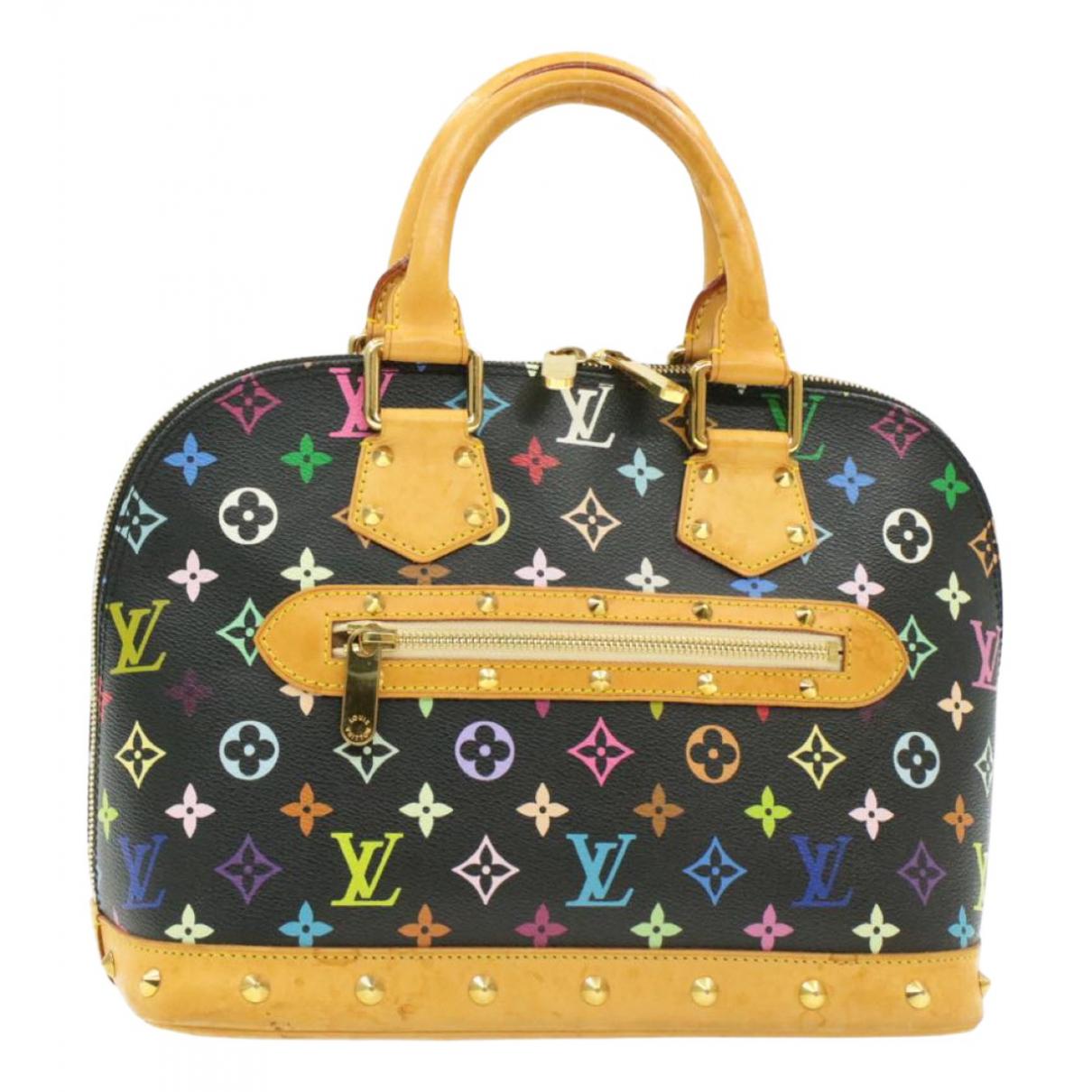 Louis Vuitton - Sac a main Alma pour femme en toile - noir