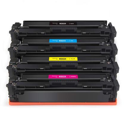 Compatible HP 414X Toner Cartridge Combo High Yield BK/C/M/Y - No Chip - Economical Box