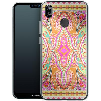 Huawei P20 Lite Silikon Handyhuelle - Paisley Pink von Amy Sia