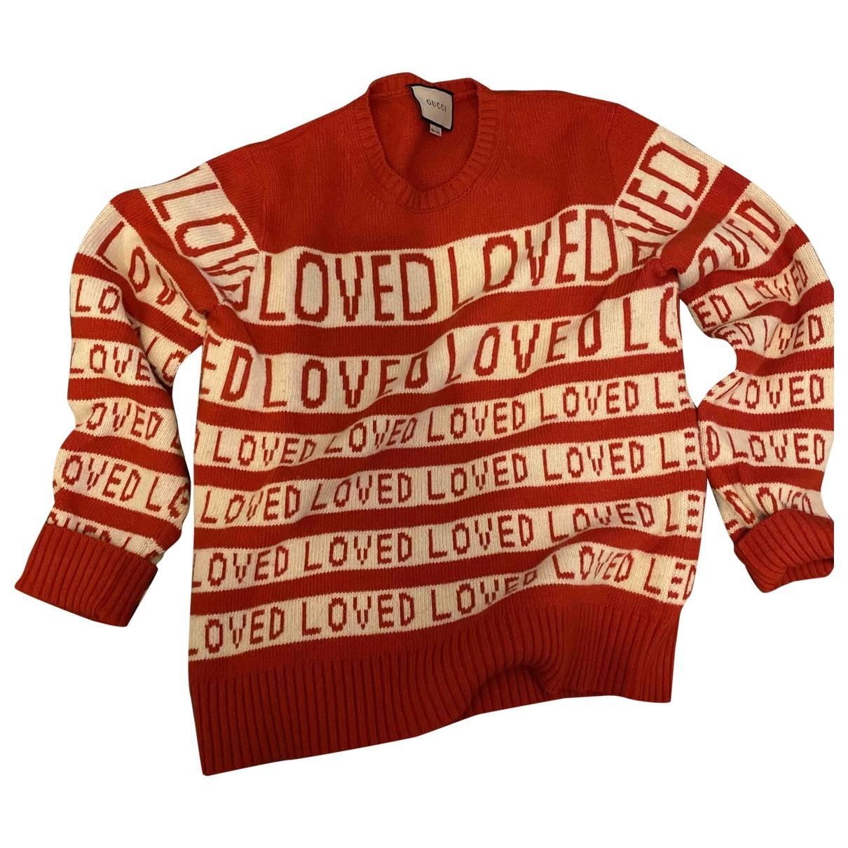 Gucci - Pull   pour femme en laine - rouge