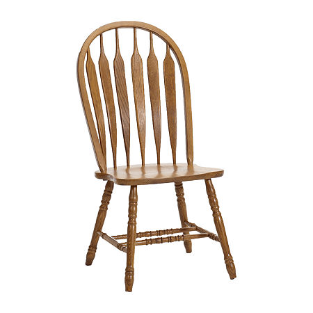 Oakmont Arrow Arm Chair - Set of 2, One Size , Brown