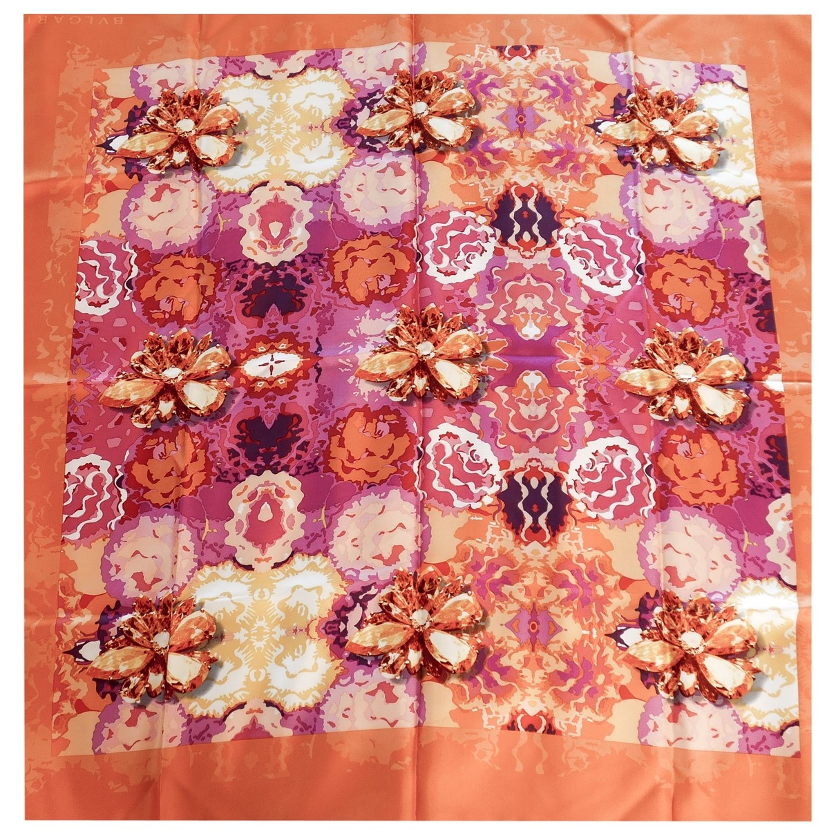 Bvlgari \N Orange Silk Silk handkerchief for Women \N