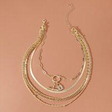Halskette mit Schloss Dekor
