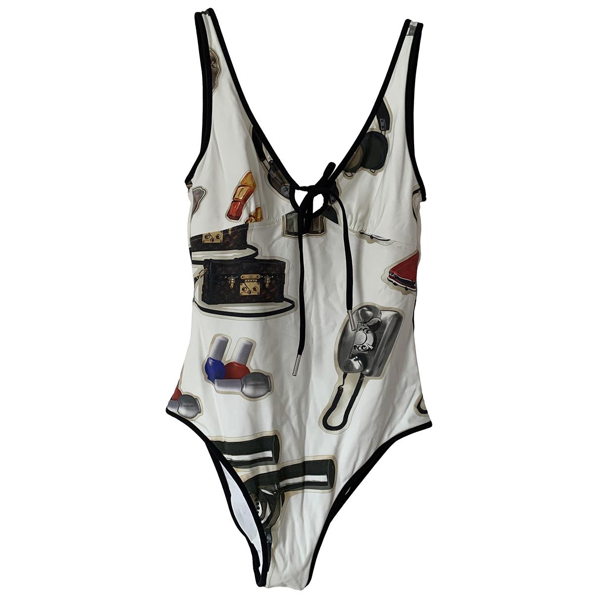 Louis Vuitton - Bain   pour femme en coton - elasthane - blanc