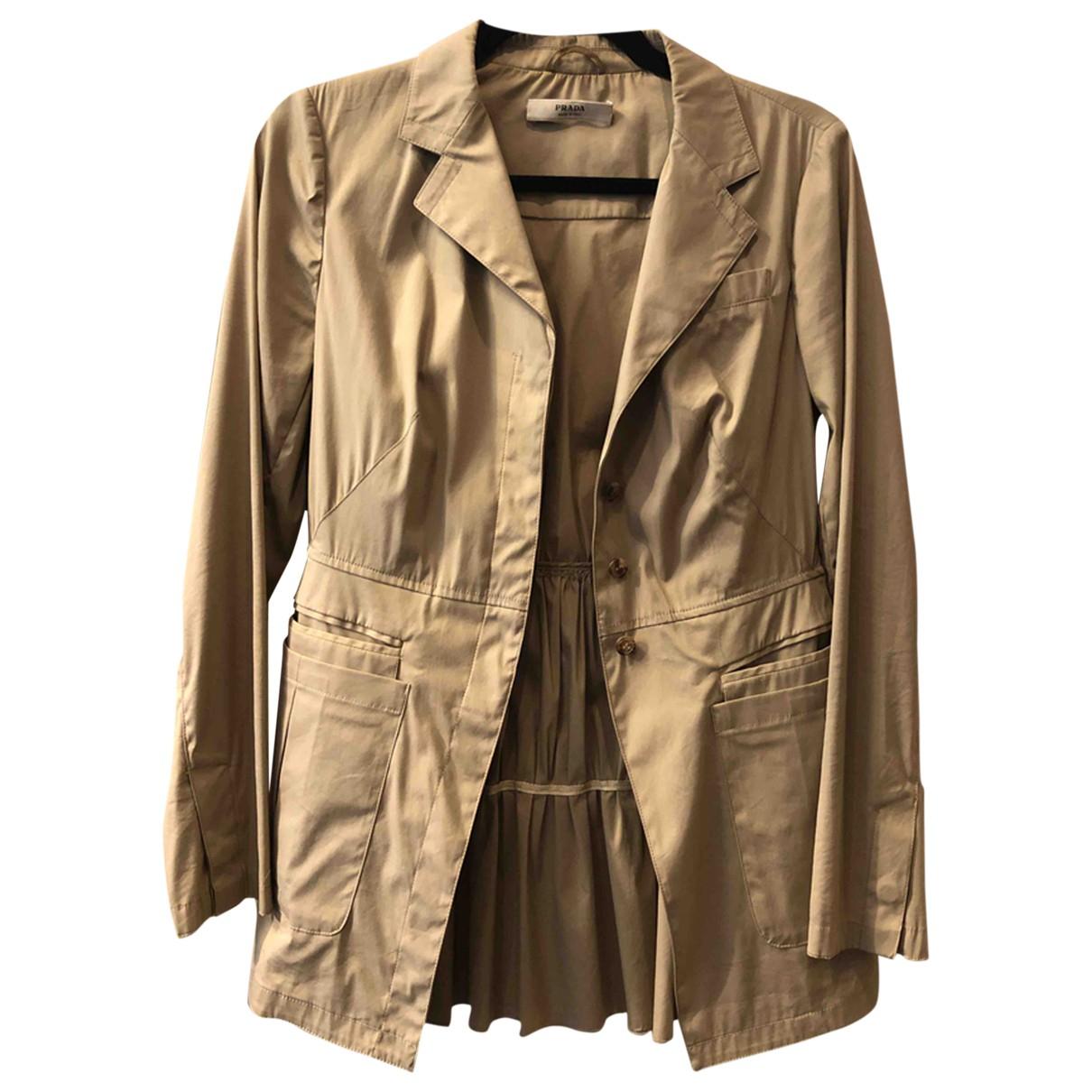 Prada \N Beige Cotton jacket for Women 40 IT