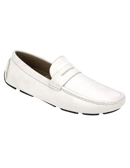 Mens stylish White Casual Slip-On Loafer Shoes