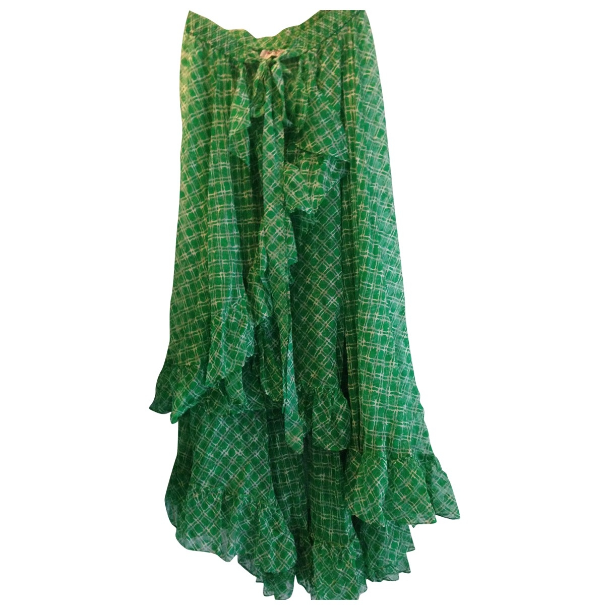 Yves Saint Laurent \N Green Silk skirt for Women One Size International