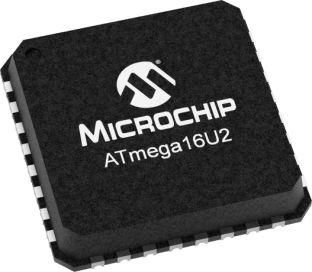 Microchip ATMEGA16U2-MU, 8bit AVR Microcontroller, ATmega, 16MHz, 16 kB Flash, 32-Pin QFN (490)