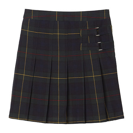 French Toast Plaid Little & Big Girls Scooter Skirt, 20.5 Plus , Green