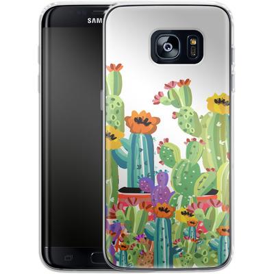 Samsung Galaxy S7 Edge Silikon Handyhuelle - Cacti Land von Mukta Lata Barua