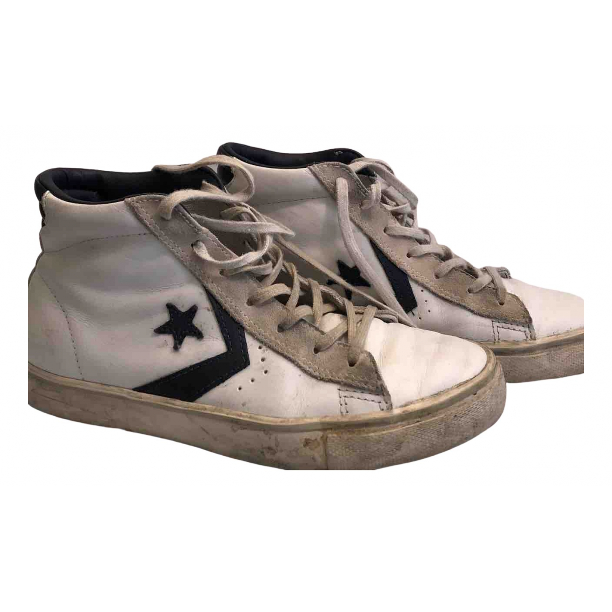 Converse N White Leather Trainers for Women 39 IT