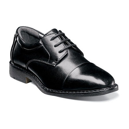 Stacy Adams Little Kids Boys Templeton Oxford Shoes, 6 Medium, Black