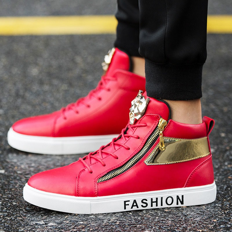 Ericdress Sequin Mid-Cut Upper Men's Skater Shoes