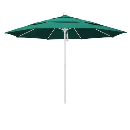 ALTO118170-48090-DWV 11' Venture Series Commercial Patio Umbrella With Matted White Aluminum Pole Fiberglass Ribs Pulley Lift With Sunbrella 1A