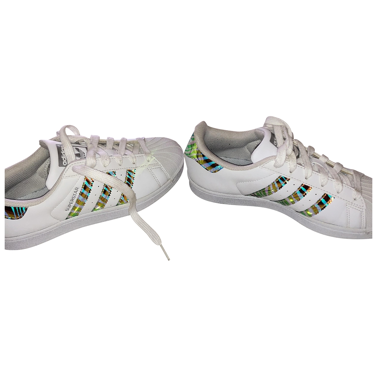 Adidas Superstar White Leather Trainers for Women 37 EU