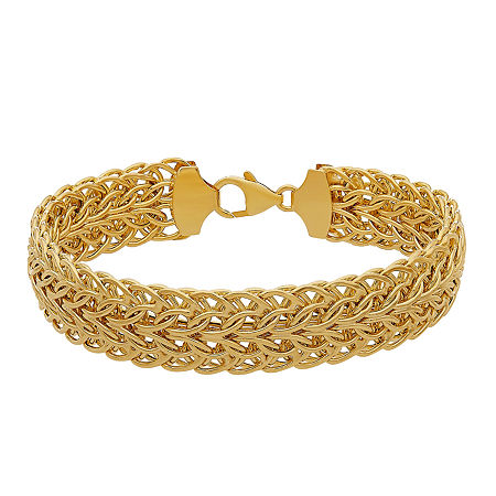 14K Gold 8 Inch Hollow Link Chain Bracelet, One Size , No Color Family