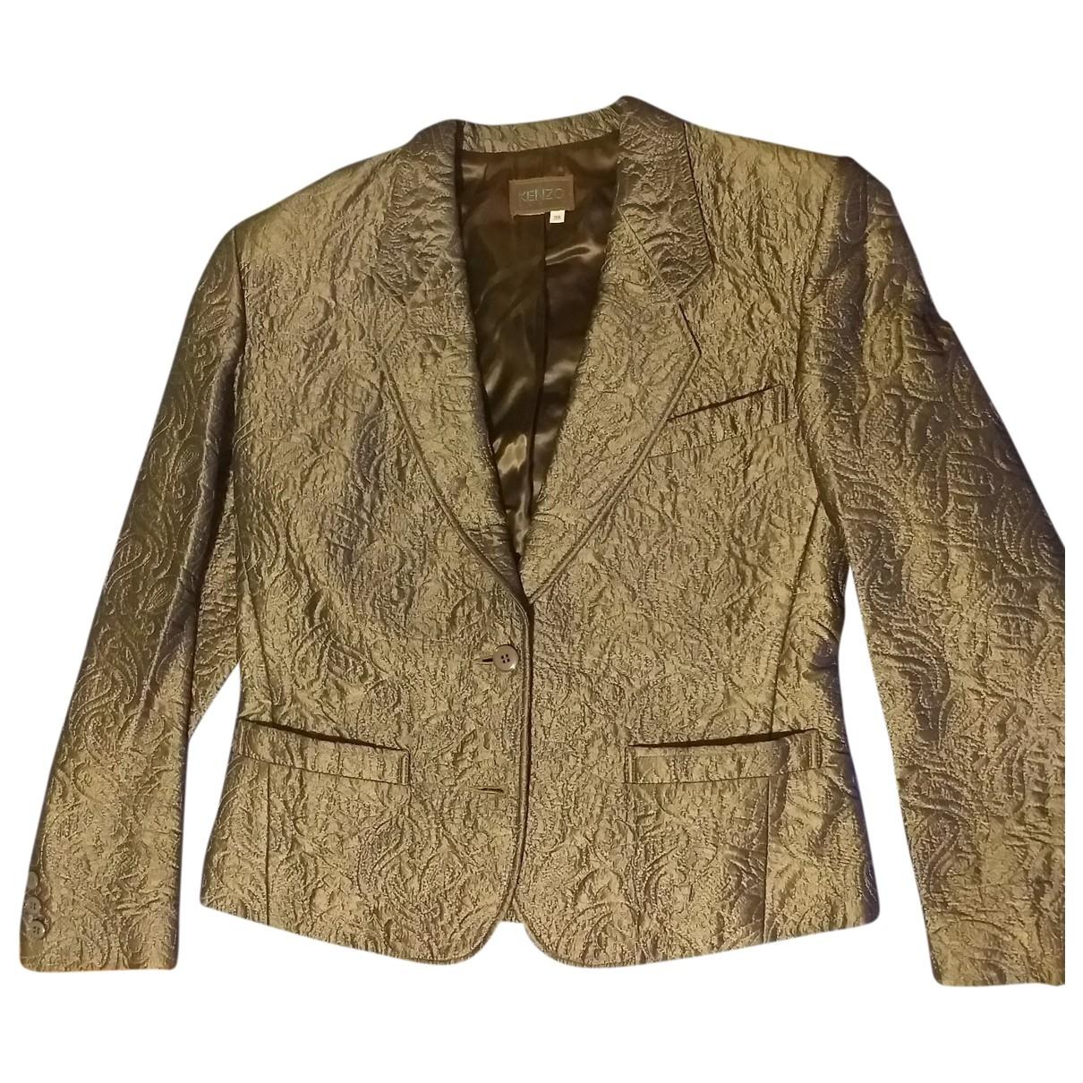 Kenzo - Veste   pour femme en laine - argente