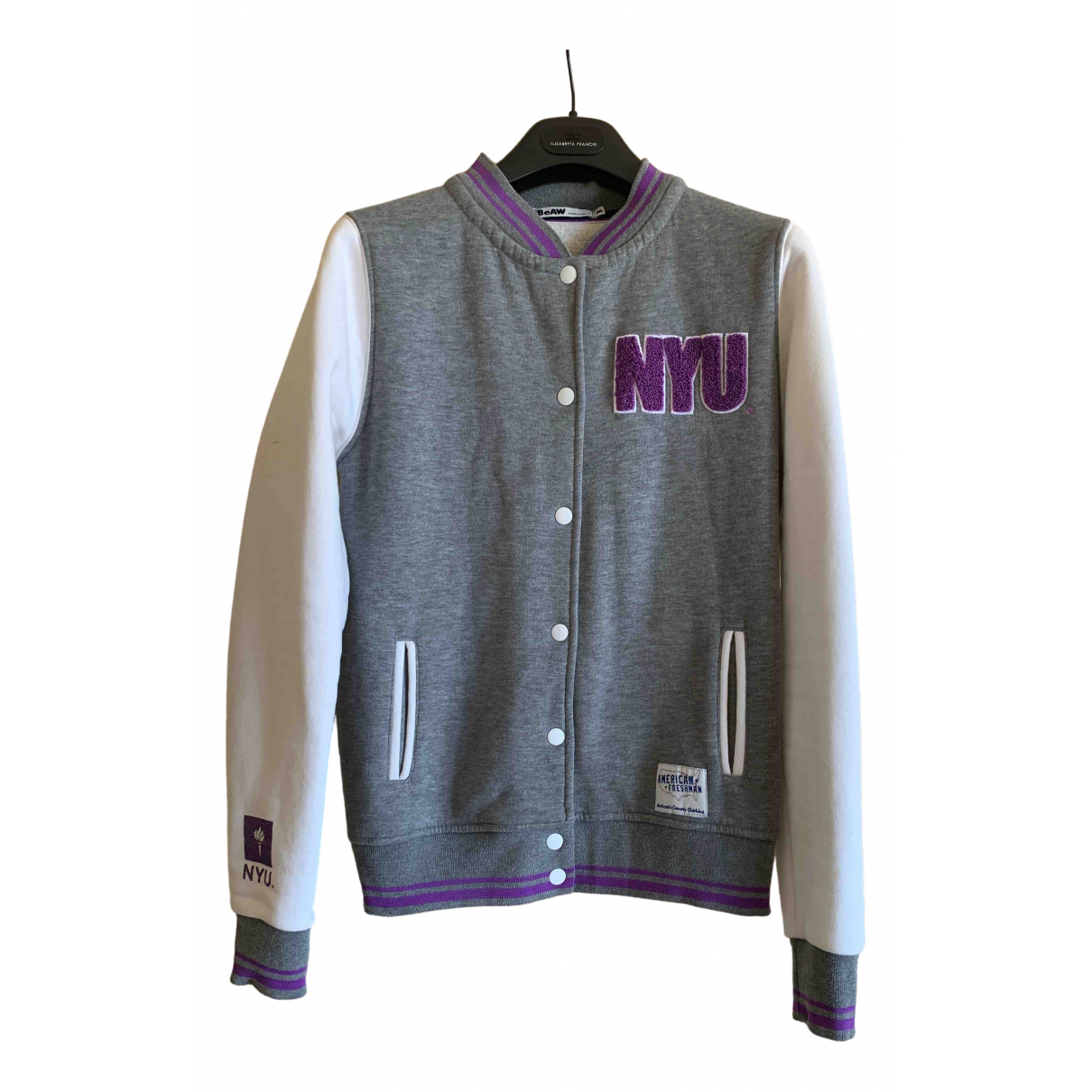 Non Signé / Unsigned \N Grey Cotton jacket for Women 42 IT