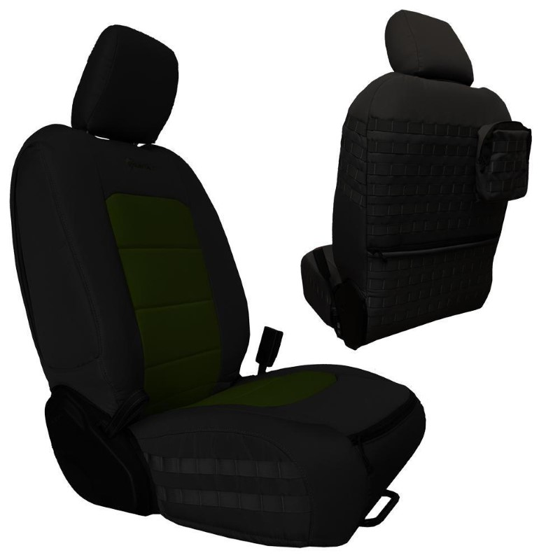 Bartact JTTC2019FPBO Front Seat Covers 2019 and Up Jeep Gladiator Black/Olive