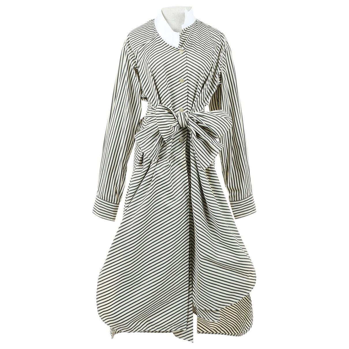 Loewe \N Kleid in  Beige Baumwolle
