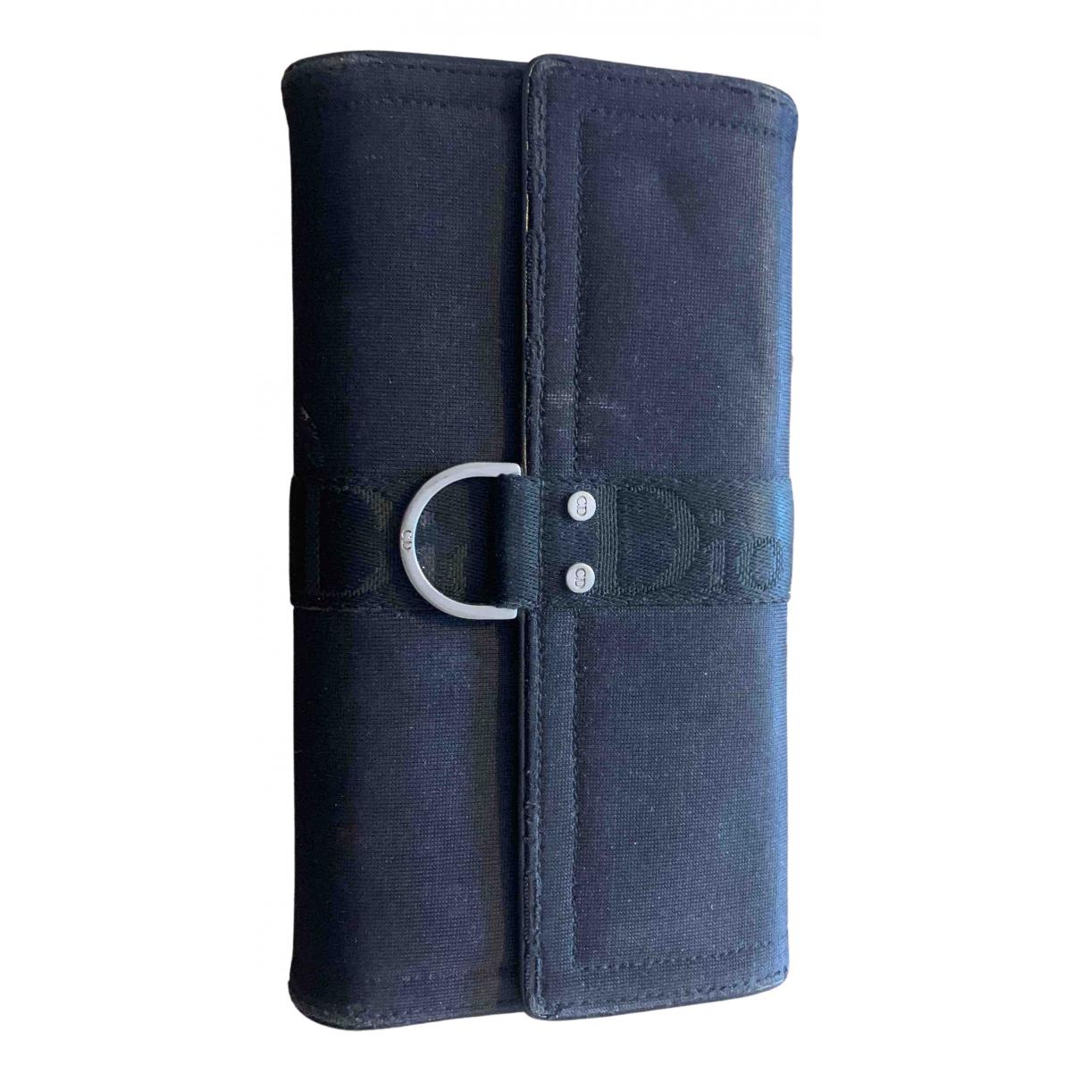 Dior - Portefeuille   pour femme en coton - noir