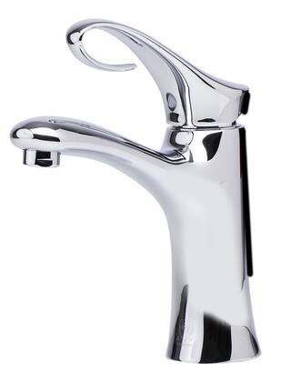 AB1295-PC Bathroom Faucet with Brass  Single Lever Control  Fixed Spout  Single Hole Mount and UPC Logo of Authenticity in Polished