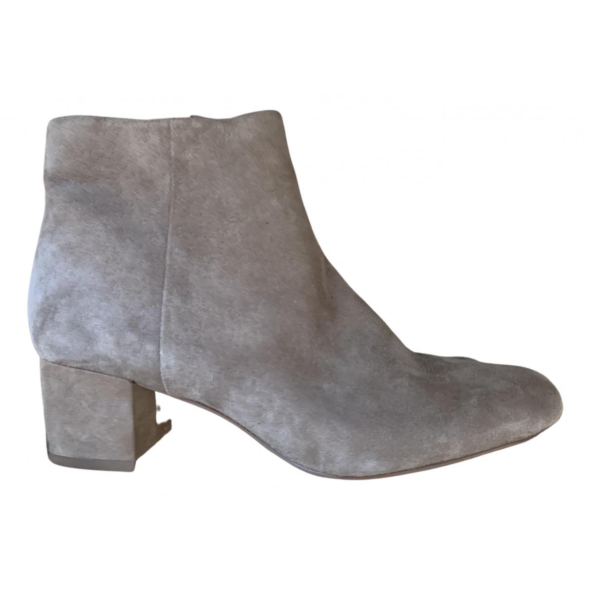 Sam Edelman - Boots   pour femme en suede - beige