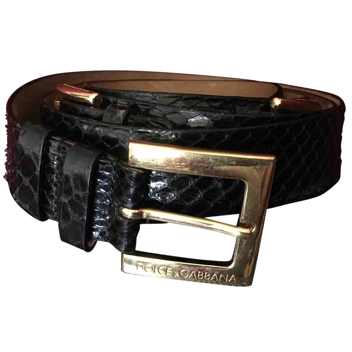 Cinturon de Piton Dolce & Gabbana