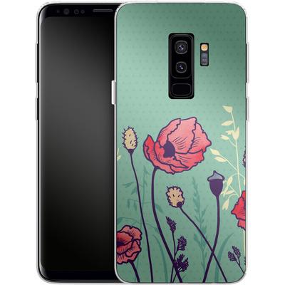 Samsung Galaxy S9 Plus Silikon Handyhuelle - Summer Field von Little Clyde