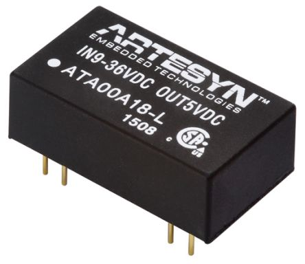 Artesyn Embedded Technologies ATA 3W Isolated DC-DC Converter Surface Mount, Voltage in 9 ? 36 V dc, Voltage out