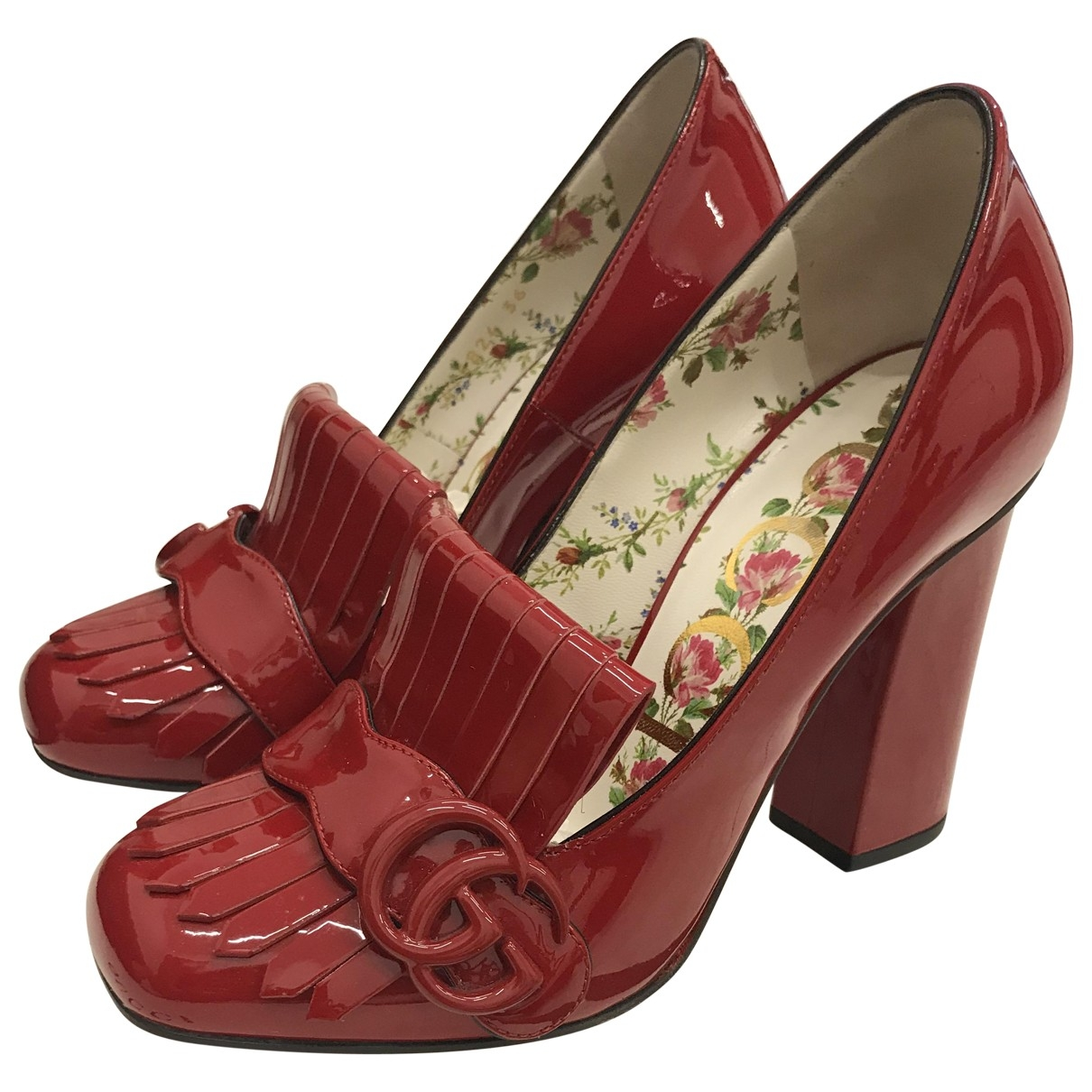 Gucci \N Red Patent leather Heels for Women 36 EU