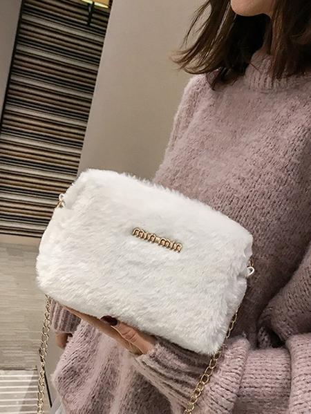 Yoins Zip Design Crossbody Bag With Chain Strap