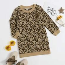 Kleid mit Leopard Muster