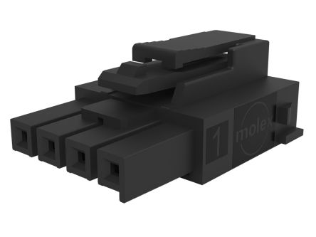 Molex Female Crimp Connector Housing, 3.5mm Pitch, 5 Way, 1 Row (3500)