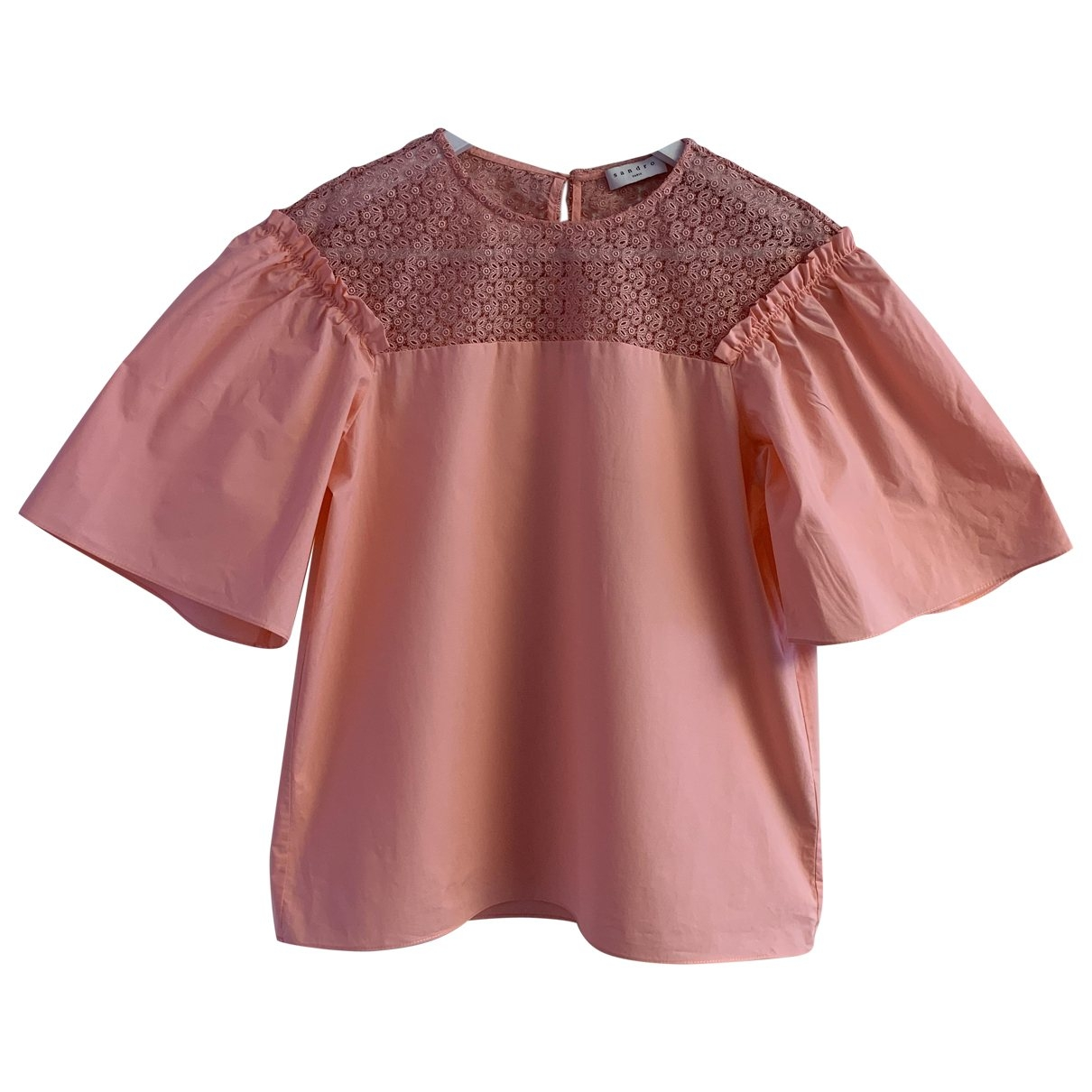 Sandro \N Pink Cotton  top for Women 1 US