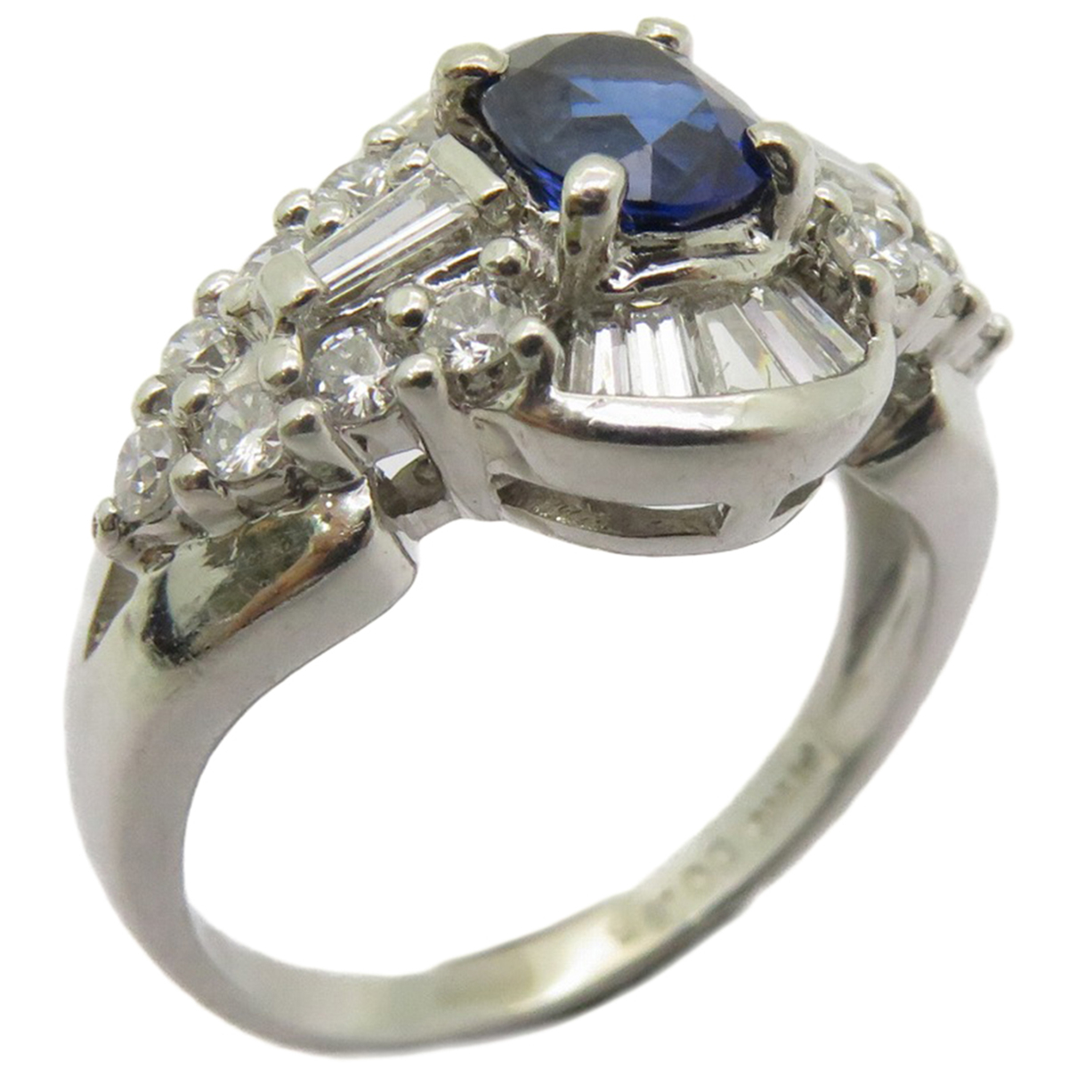 Non Signe / Unsigned \N Ring in  Silber Platin