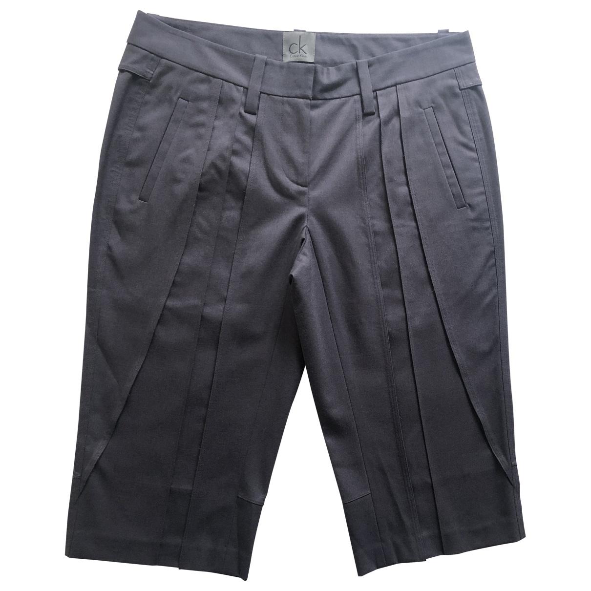 Calvin Klein \N Shorts in  Blau Wolle