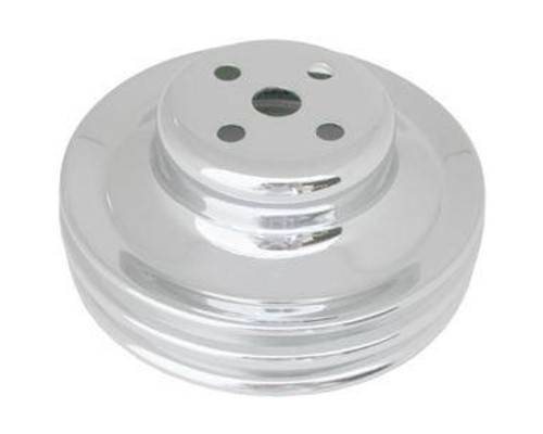 Racing Power Company R8975 Chrome Water Pump 2 Volt Pulley Ford 289 1965-66