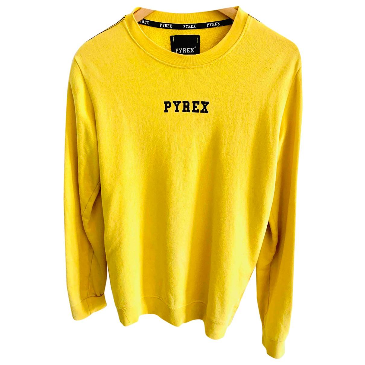 Pyrex N Yellow Cotton Knitwear & Sweatshirts for Men M International