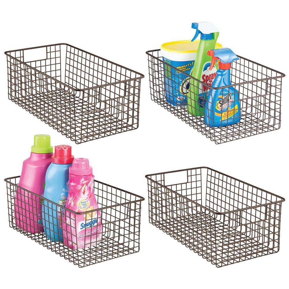 Deep Wire Laundry Basket in Bronze, 16